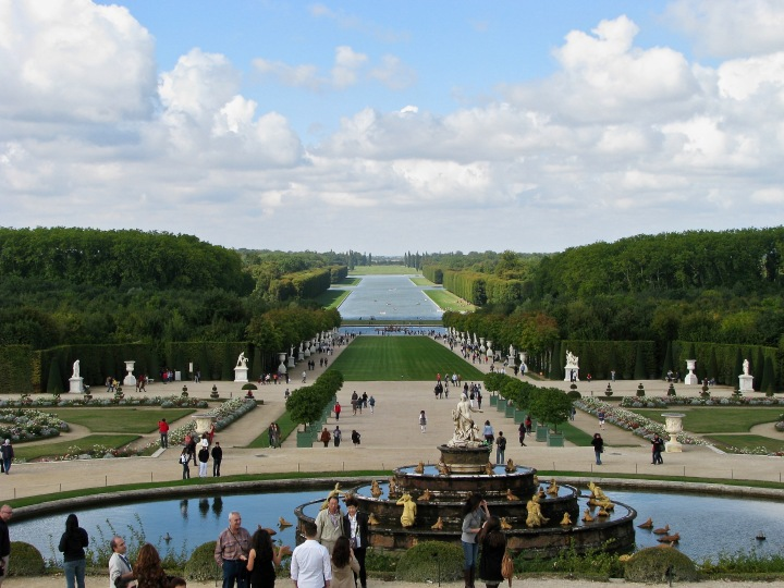 the grand perspective from Latona's fountain